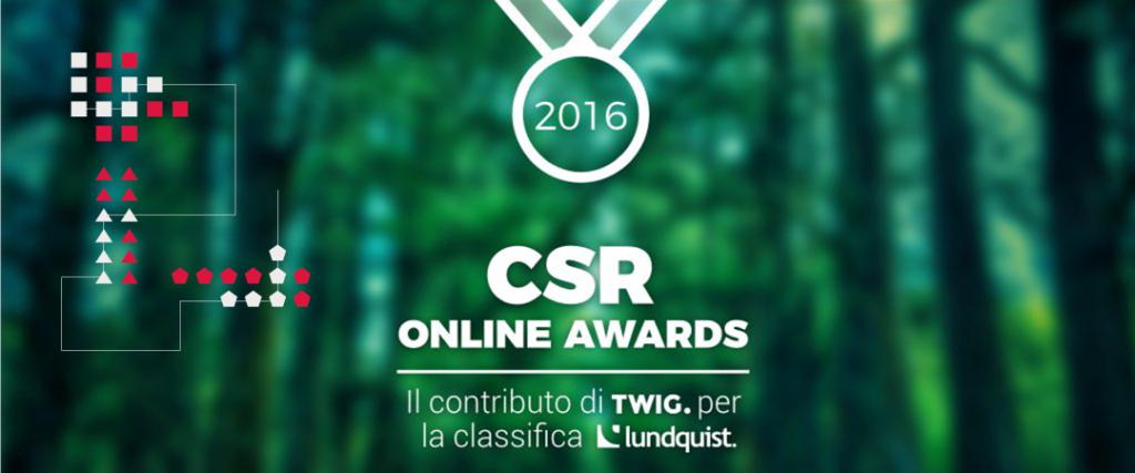 CSR Online Awards: il contributo di INTWIG per la classifica di Lundquist